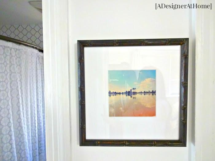 custom framed free art against white walls