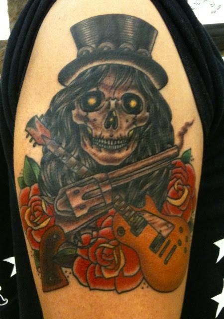 Guns N Roses Tattoo Design At Upper Arm Tattoomagz