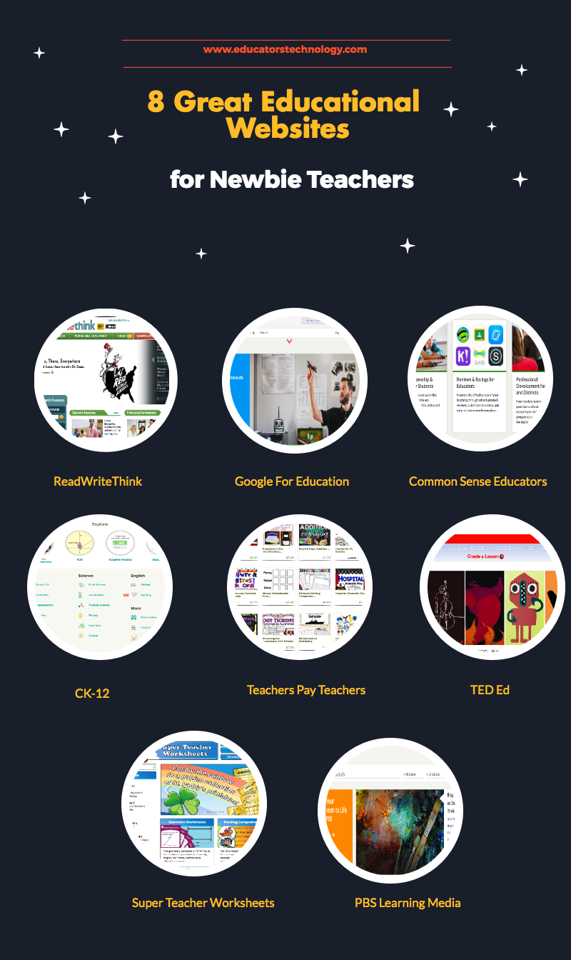 8 Great Educational  Websites for Newbie Teachers