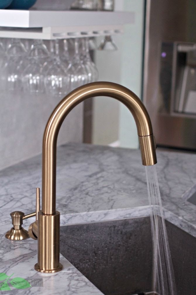 Gold Faucet Kitchen Stainless Sink