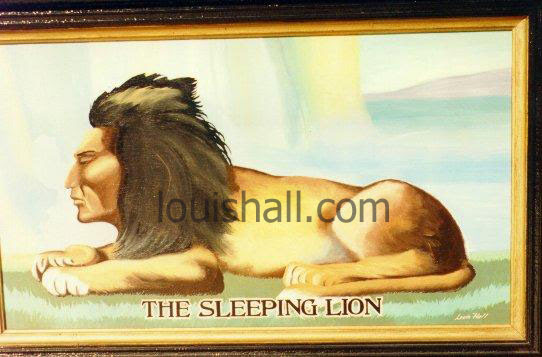 Sleeping lion is waking up and remembering.