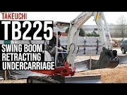Video: Takeuchi's new TB225 excavator has swing boom, retractable undercarriage for digging in tight spaces oleh - bekominisumitomo.xyz