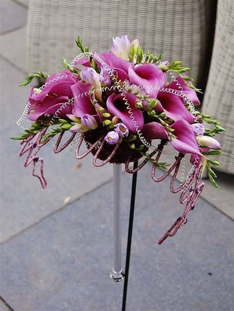 49 best images about Wedding Flowers with Colored Wire on