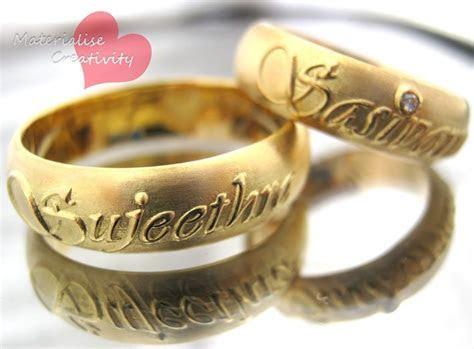 Gold Engagement Rings   Materialise Creativity: 18K Yellow