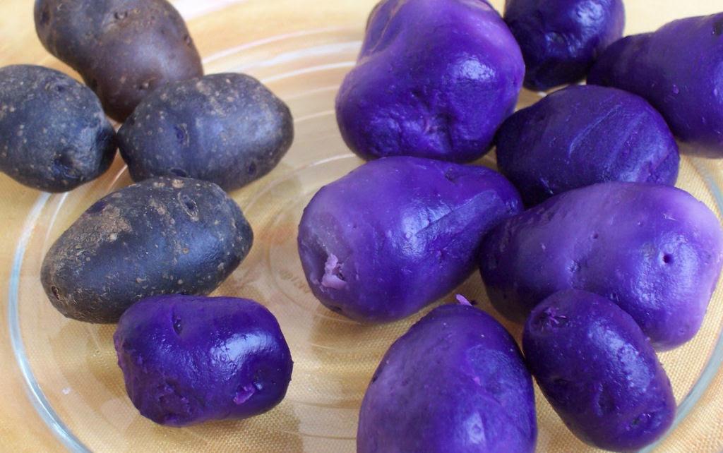 Alimentos de cor azulada