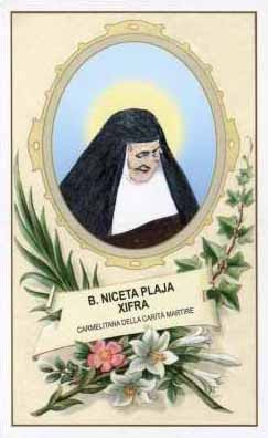 Bienheureuses Nicéta Plaja Xifra et ses onze compagnes, martyres carmélites espagnoles († 1936)