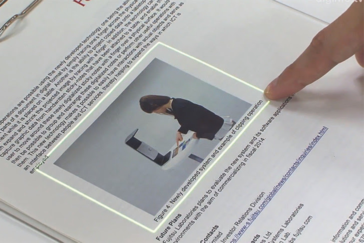 FingerLink Turns Paper into Interactive Interface