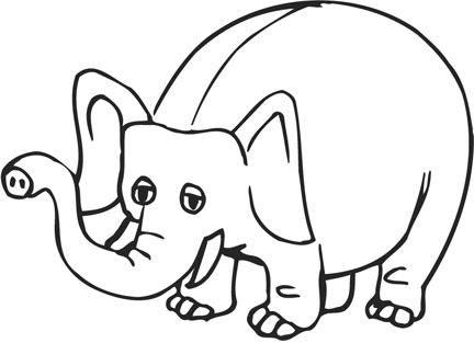 picture coloring book elephant coloring pages. Black Bedroom Furniture Sets. Home Design Ideas