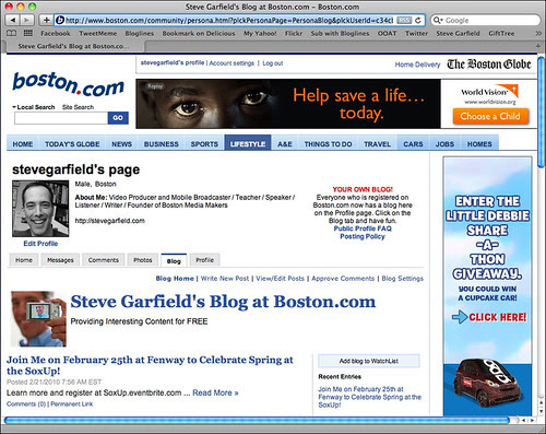 Steve Garfield's Blog at boston.com