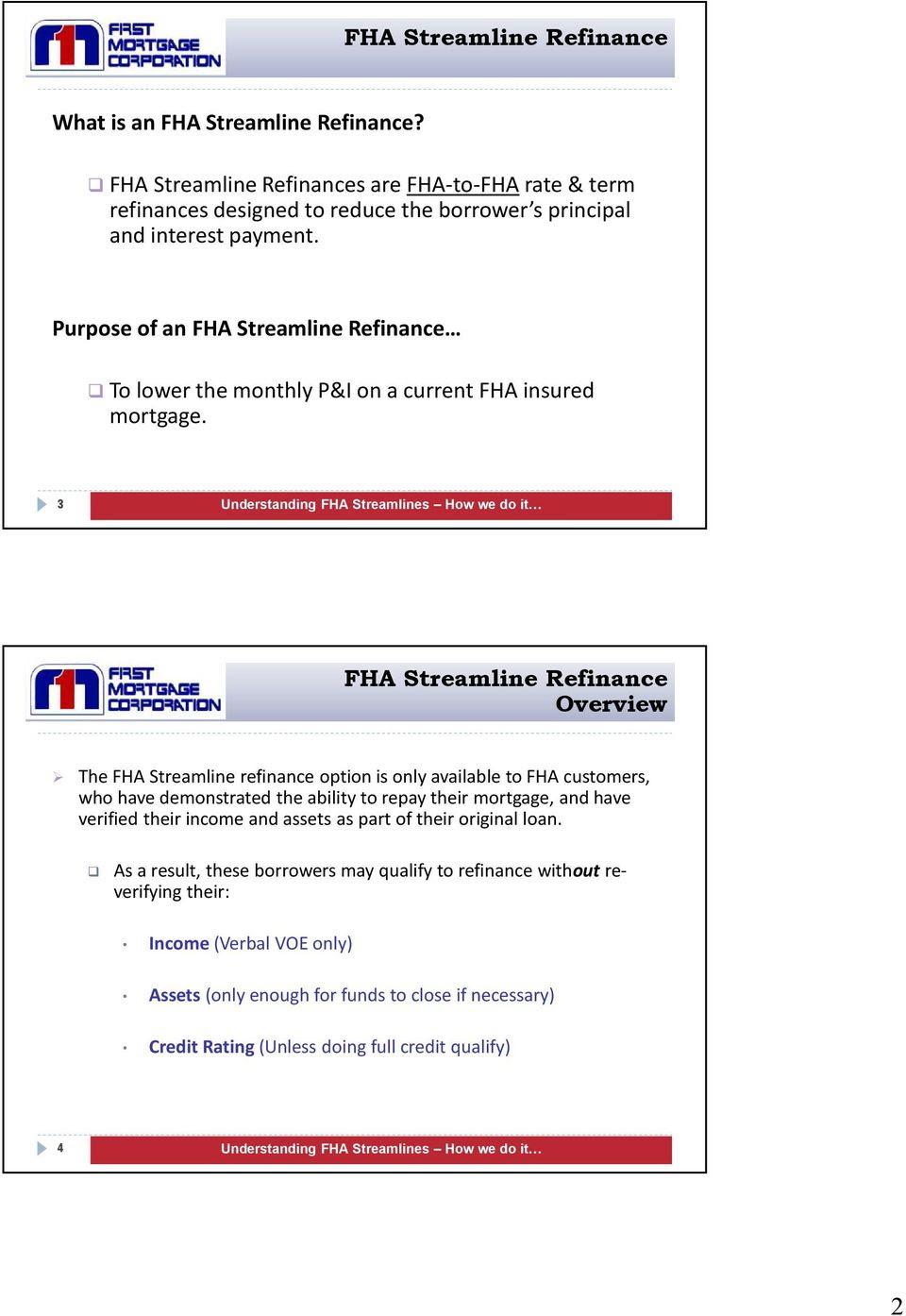 Fha Streamline Worksheet   Free Worksheet