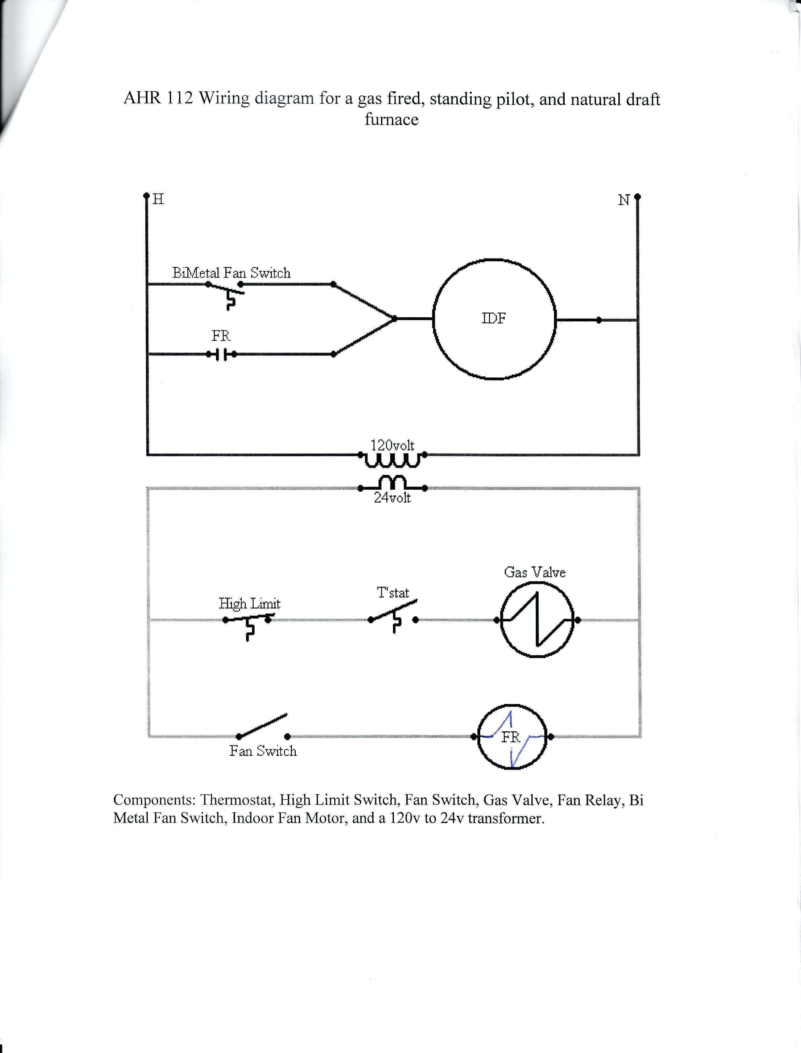 Wiring Diagram Older Furnace Heater Relay