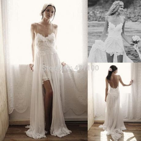 Bohemian short wedding dress