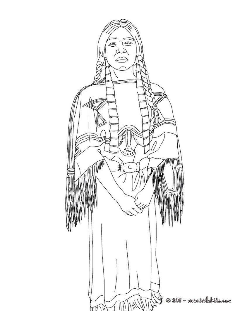 Native american coloring pages to download and print for free