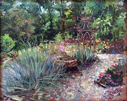 Ellettsville Garden - Oil on Canvas 2016