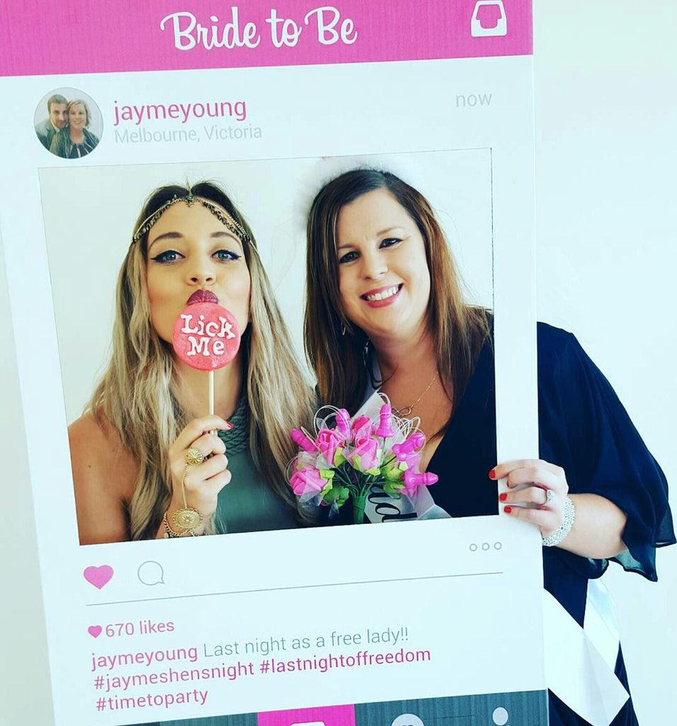 Bridal Shower Photo Booth Props Australia Framesta