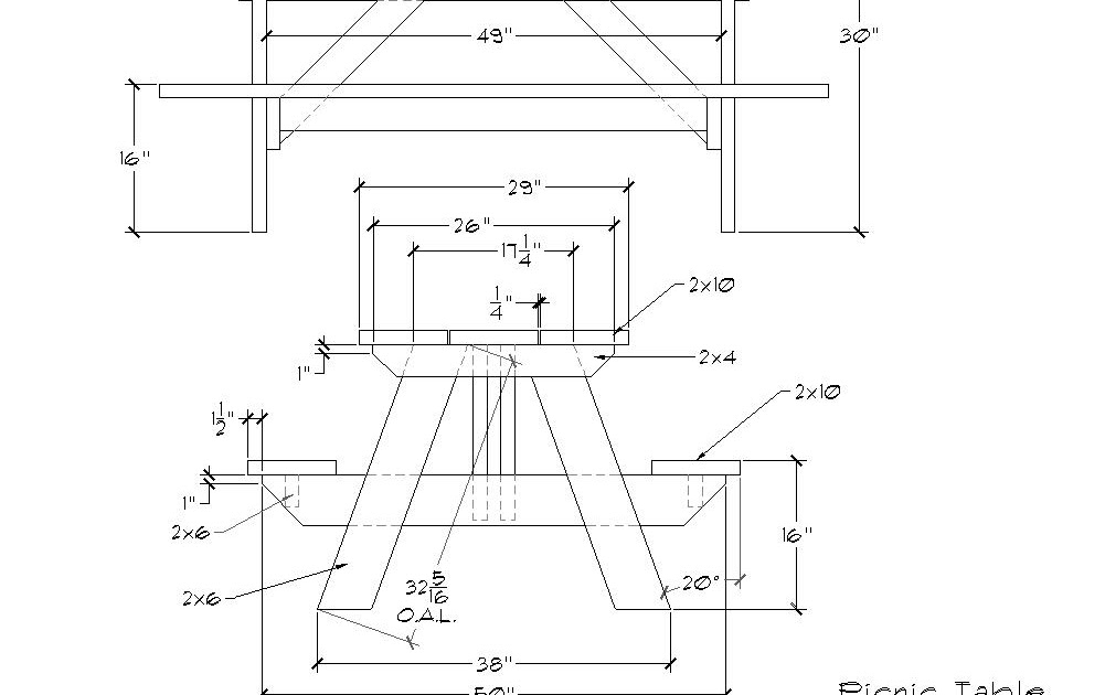 Bakes detail picnic table plans metric for Picnic boat plans