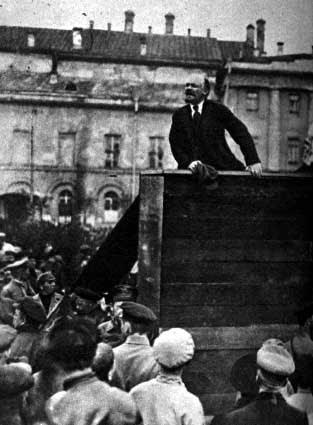 Vladimir Lenin, líder de la revolución bolchevique de octubre