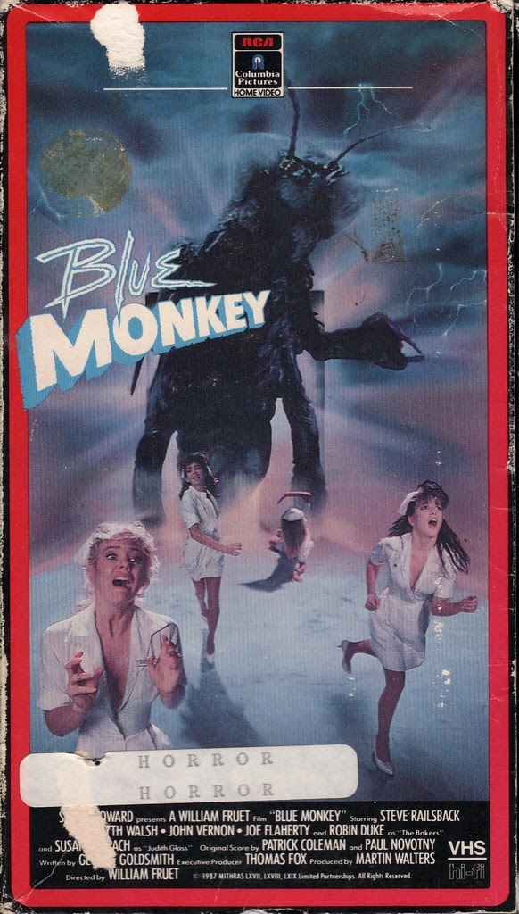 Blue Monkey (VHS Box Art)