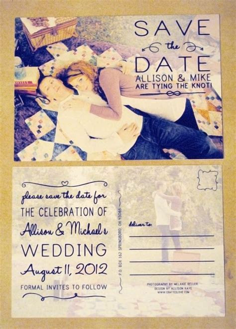 save the date postcard  this will save money since