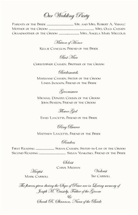 Claddagh Celtic Designs Wedding Program Examples Claddagh