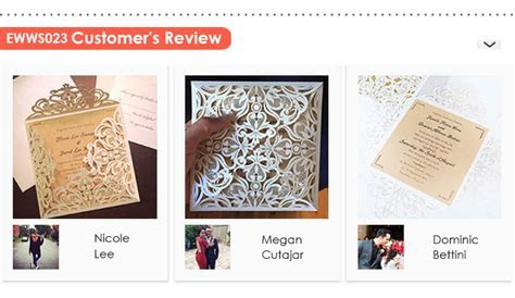 EWI Top 10 Best selling Wedding Invitations
