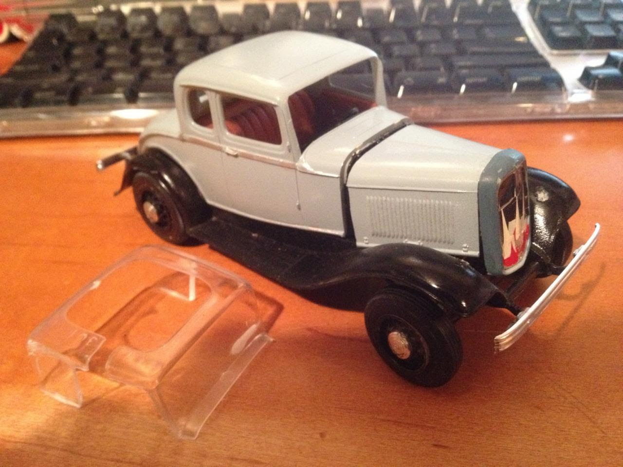Glue Bomb 32 Ford Is Done  Under Glass  Model Cars Magazine Forum