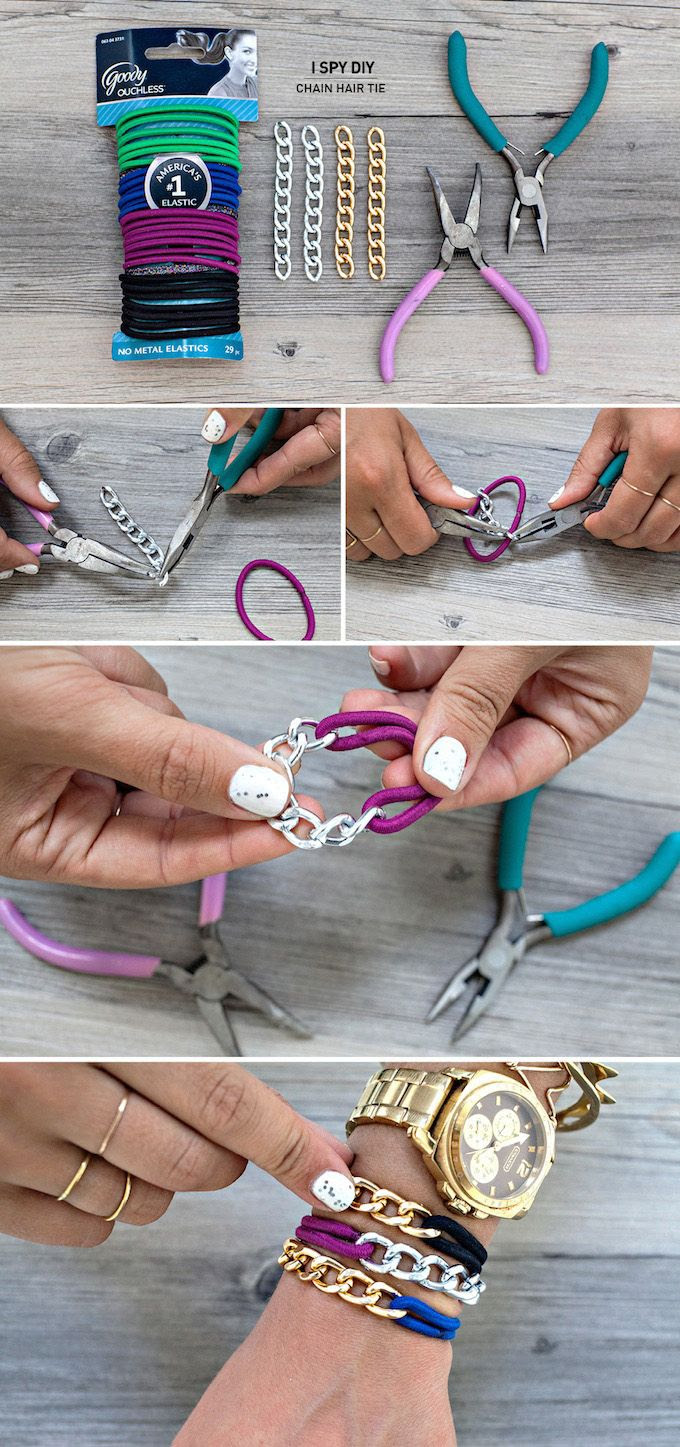 DIY: chain hair tie