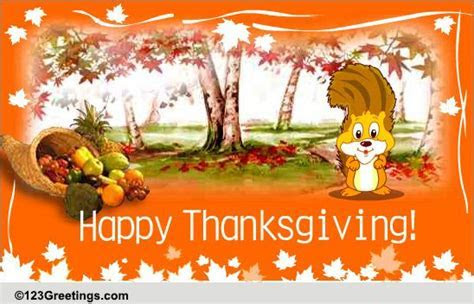 Giving And Sharing. Free Happy Thanksgiving eCards