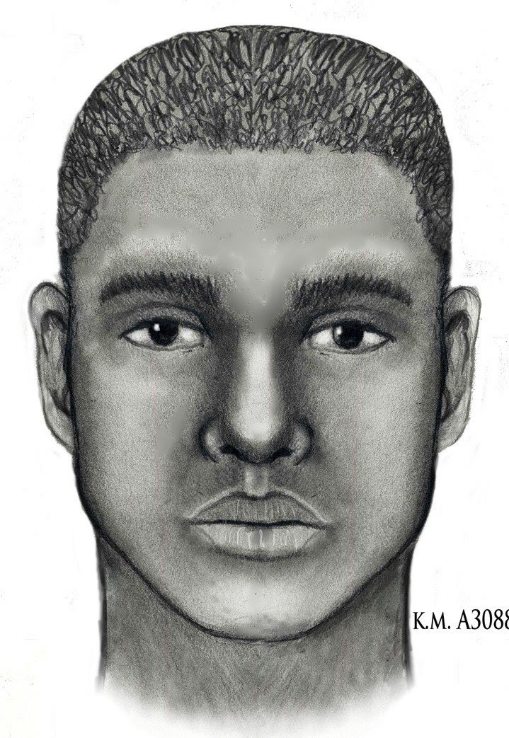 Composite sketch of police impersonator. (Source: Silent Witness)