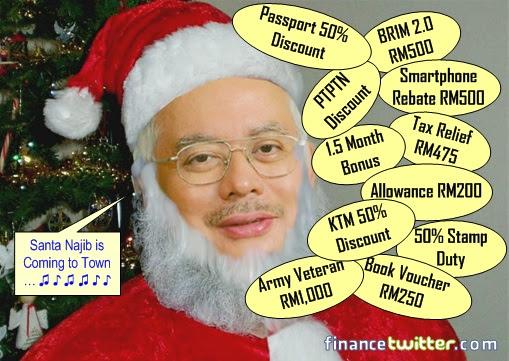 Budget 2013 - Santa Claus Najib