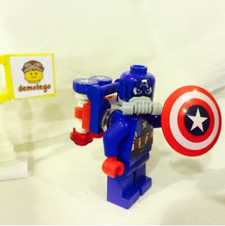 3e4cc5e3046 BELI Lego Original Minifigure Captain America Space Suit Superheroes