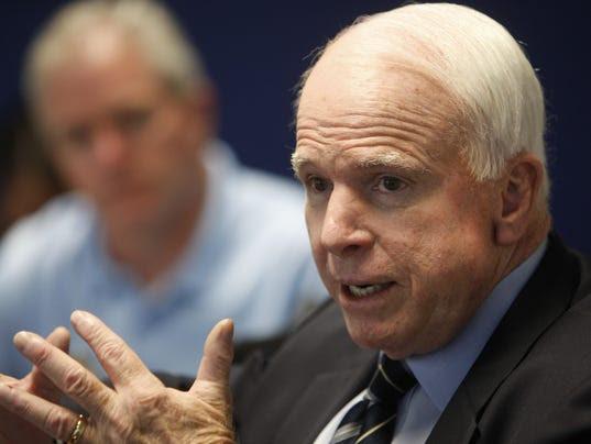 McCain at ed board
