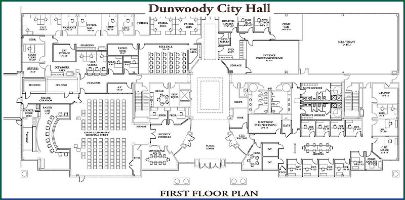 Heneghan s dunwoody city hall layout and