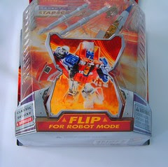 Transformers Starscream - caja (Classic Deluxe)