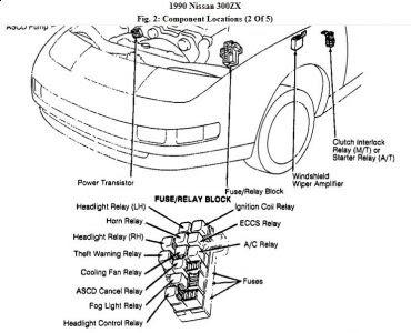 1990 Nissan 300zx fuel pump relay