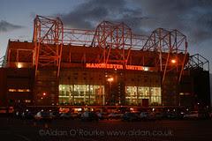 Senja di Old Trafford Stadium, Manchester, UK