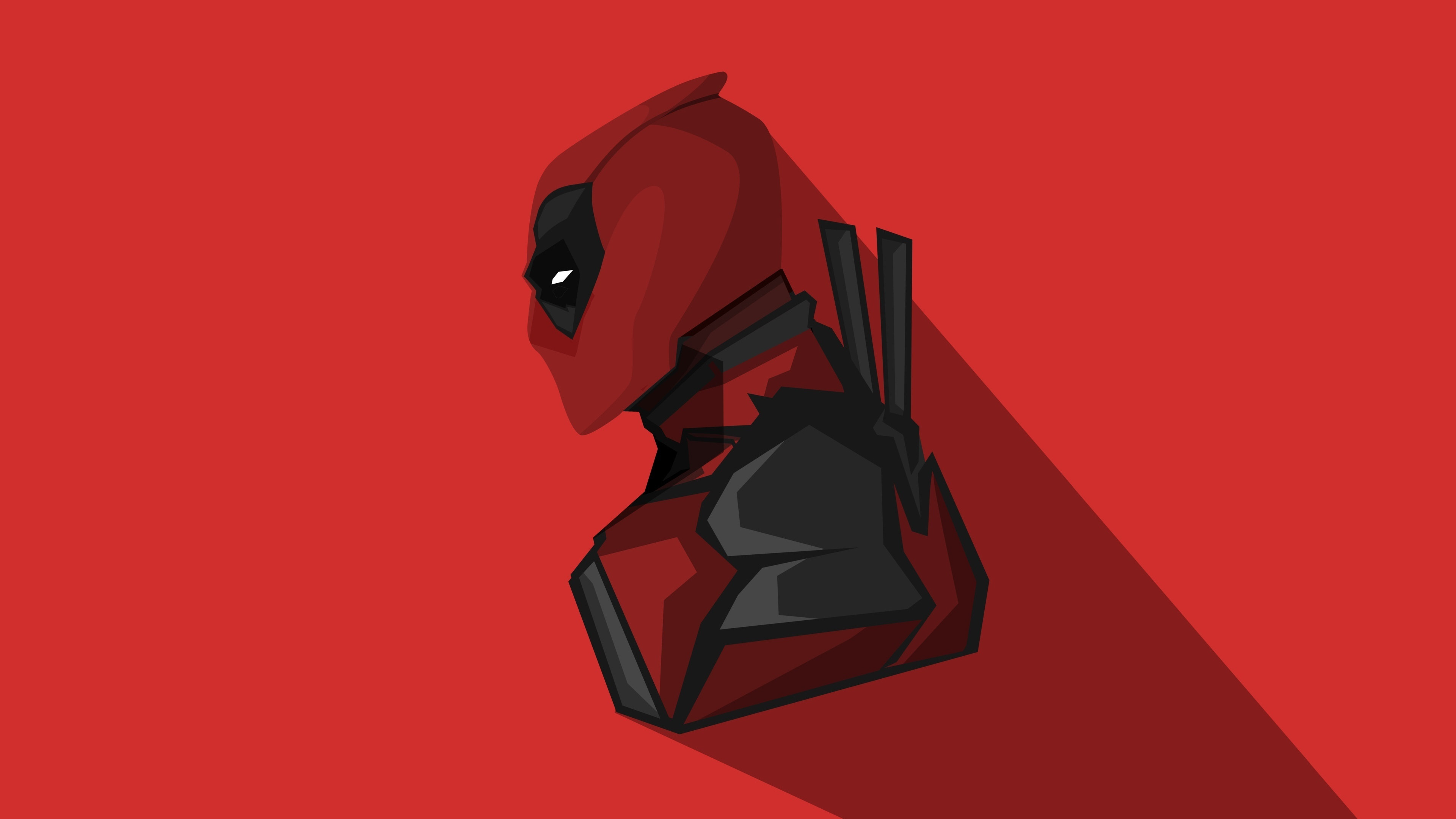 Download 3840x2160 Wallpaper Deadpool Marvel Comics Minimal 4k