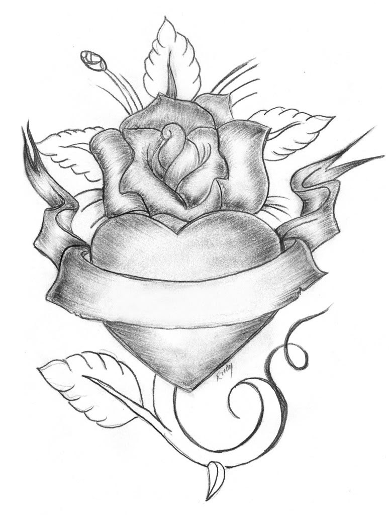 Heart Tattoo Drawing At Getdrawingscom Free For Personal Use