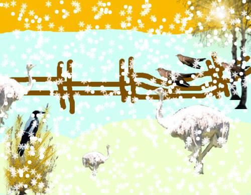 Раб.Гавриловой Дарьи Птицы под снегом