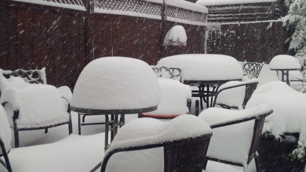 Brad Boulitier said the snowfall could be measured in feet Wednesday morning in the Cypress Hills area.