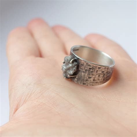 huge rough diamond ring anna rei jewellery