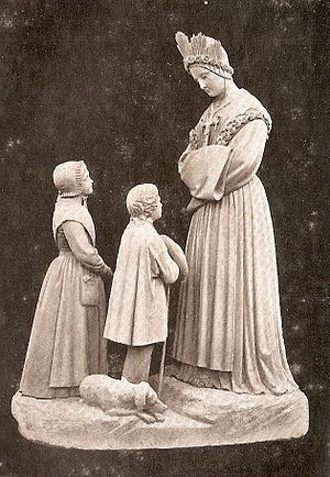 Statue of Our Lady of La Salette, talking to t...