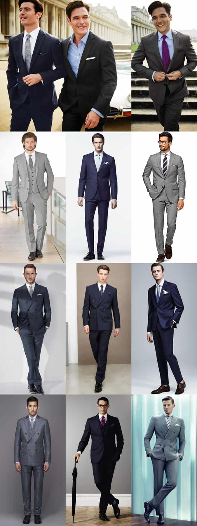 Men's Classic Spring Suits Outfit Inspiration Lookbook