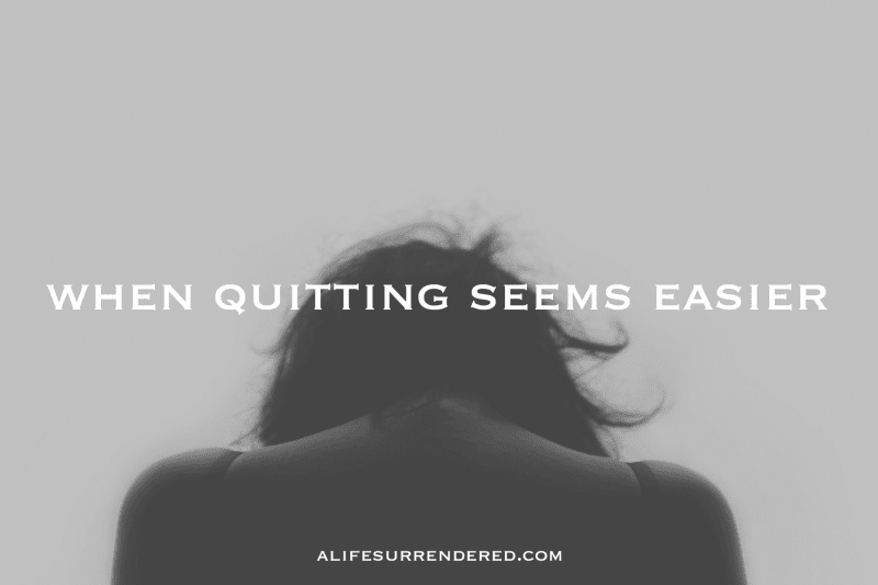 When Quitting Seems Easier Michele Lyn Ault