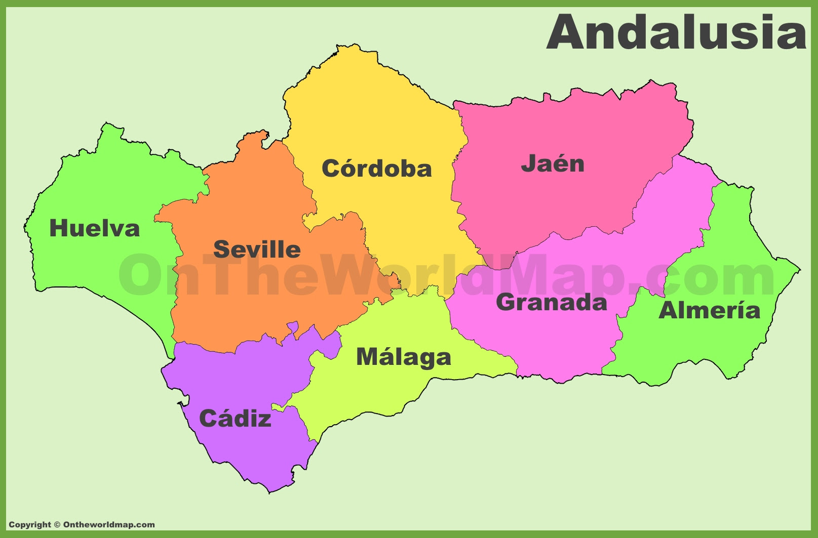 andalusia provinces map