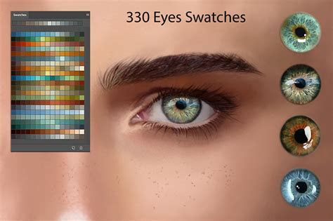 Eyes Ps Swatches for DigitalPainting ~ Photoshop Add Ons