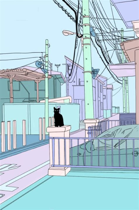 cat   power lines  utility poles sketches