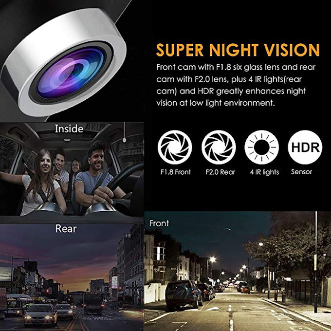 NEW 4.0 inch 1080P 3 Lens Full HD Car DVR Camera 170 Degree Rearview Car Dash Camera G-sensor Auto Car Camera Recorder 2019 df