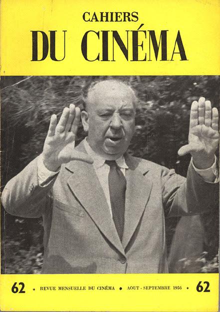 Portada de la revista Cahiers du cinema, con Alfred Hitchcock