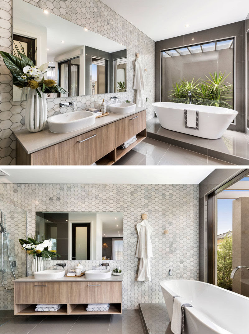 Bathroom Tile Ideas - Grey Hexagon Tiles | CONTEMPORIST